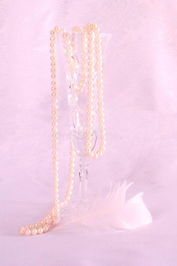 Pearls en Crystal royalty-vrije stock afbeeldingen
