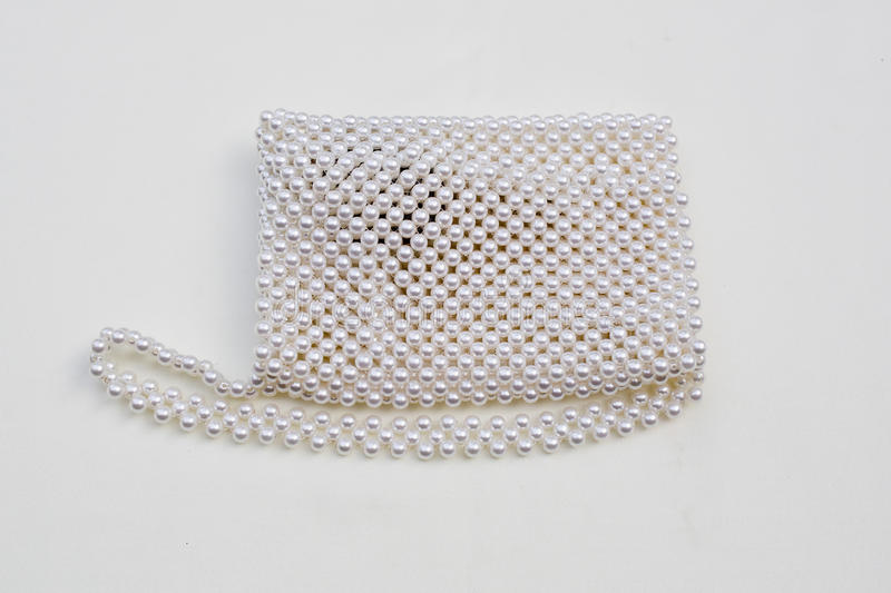 Pearls purse royalty free stock images