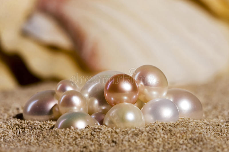 Download Pearls on the sand stock image. Image of pearl, shade - 17739075