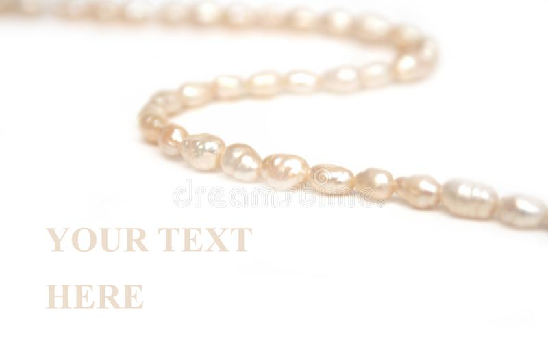 Pearls thread stock images