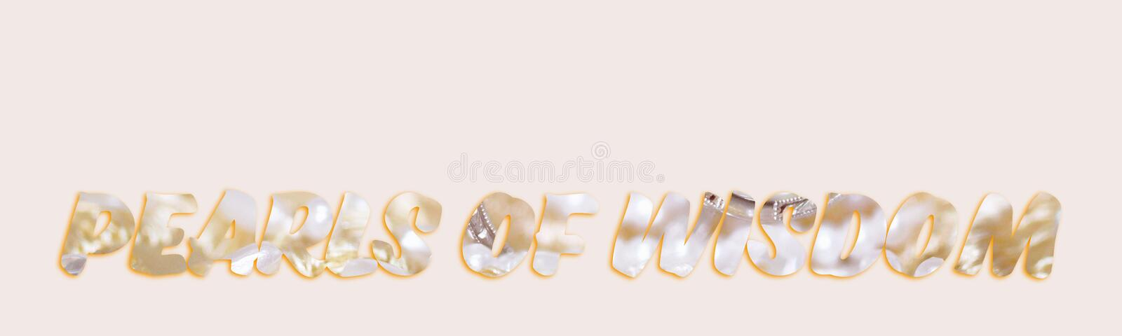 Pearls Of Wisdom Text From Jewellery Image. Pearls Of Wisdom - text with image of pearls forming the letters, suitable for web, print, professional or personal stock photos