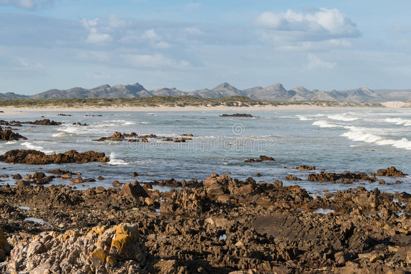 Pearly beach, Franskraal. South Africa stock photography