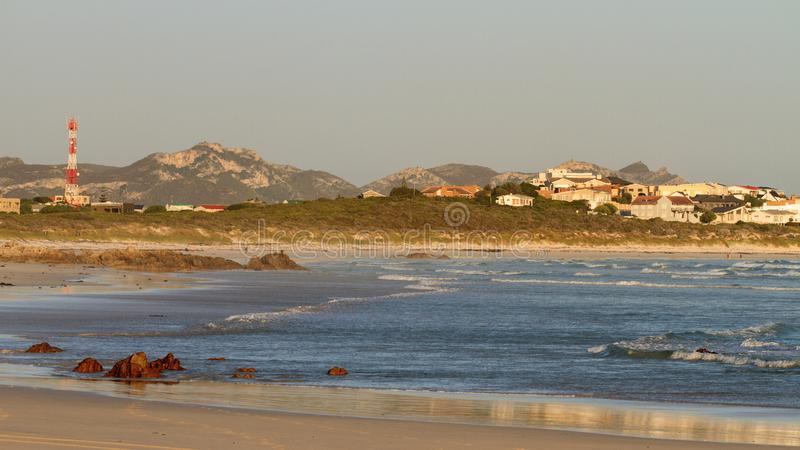 Early morning at Pearly beach - South Africa. Pearly Beach is a remote seaside hamlet in Overberg District Municipality in the Western Cape Province of South stock image