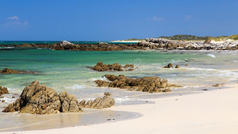 Deserted beach - Pearly beach - South Africa stock photography