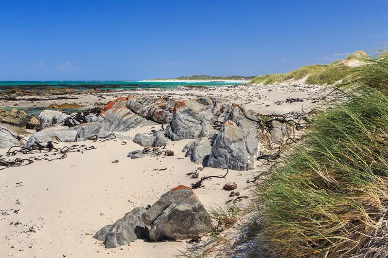 Deserted beach - Pearly beach - South Africa stock image