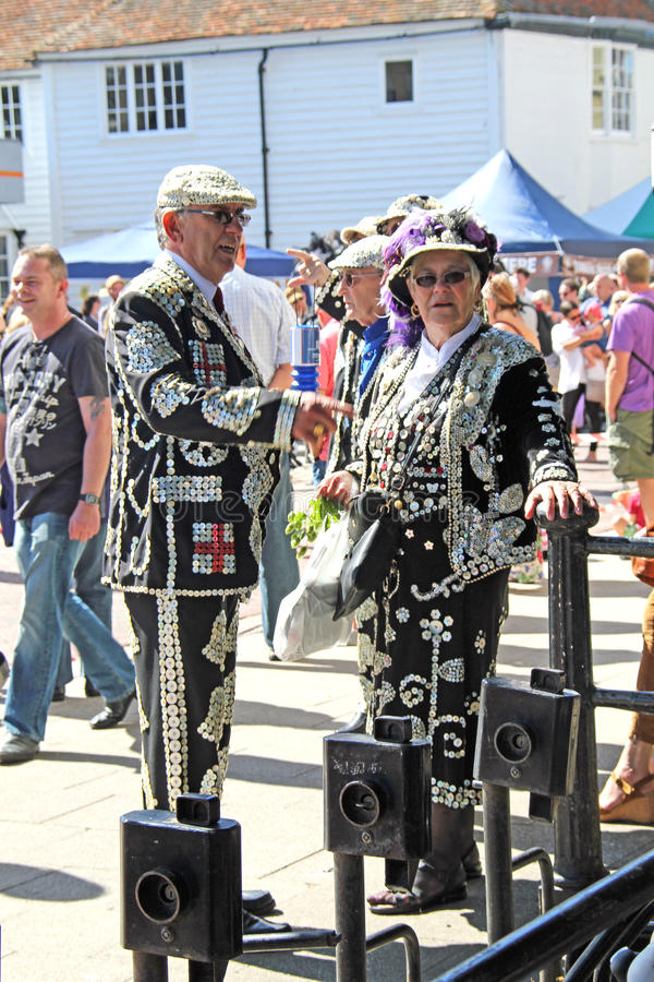 Pearly King And Queen stock photo
