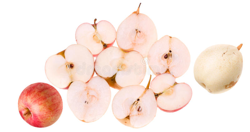 Pears and Apples stock image