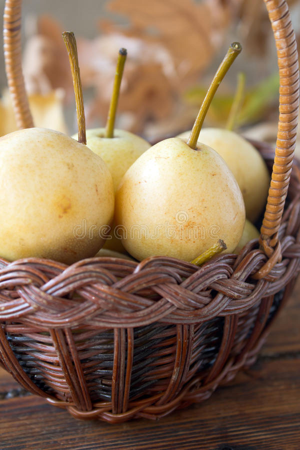 Download Pears In A Basket Royalty Free Stock Photography - Image: 27410337