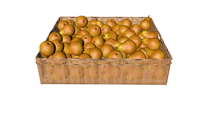 Pears, in the basket stock image