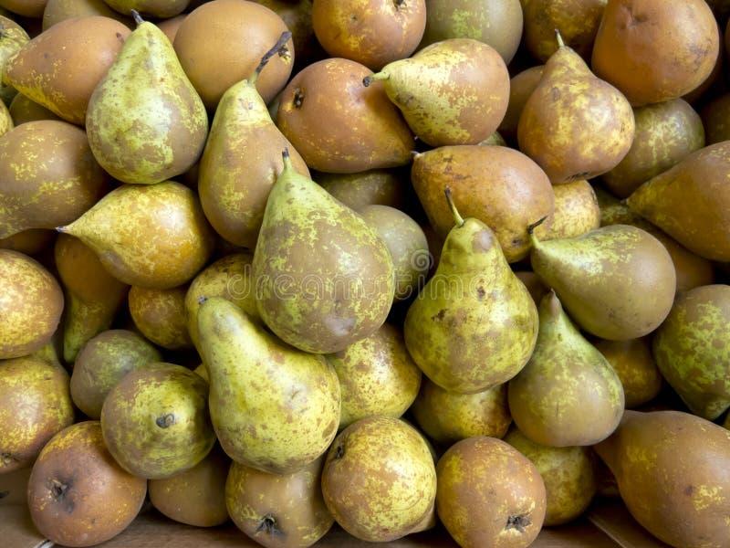 Pears in bulk stock images
