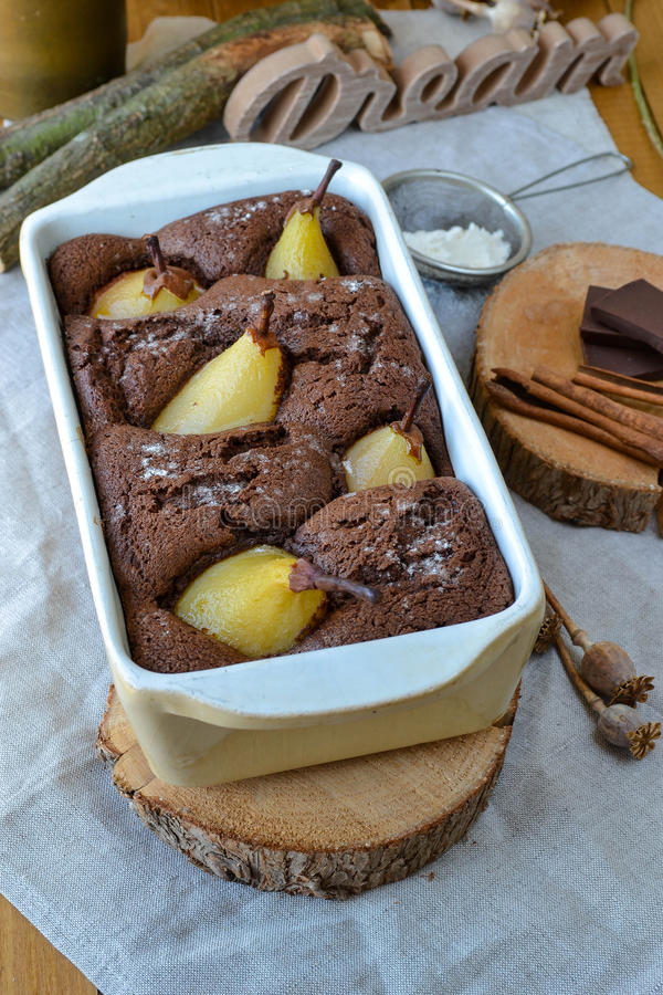 Pears cake stock images