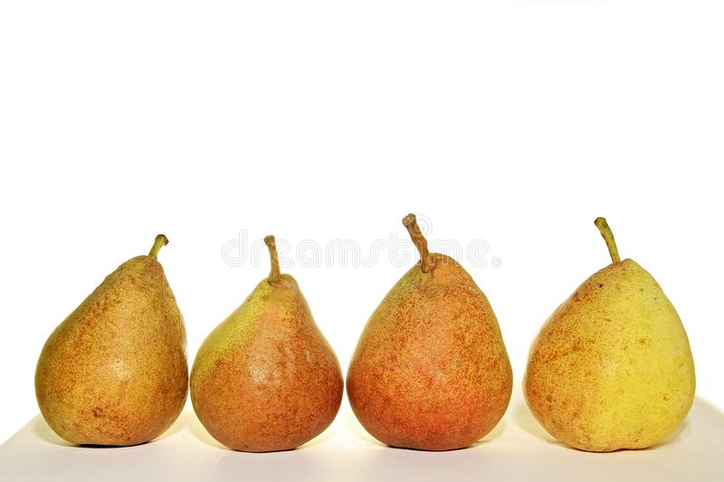 Pears. Image of pears on a table with white background stock photo