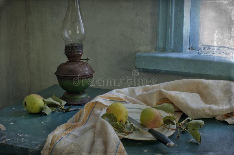 Download Pears And Kerosene Lamp Stock Image - Image: 20699721