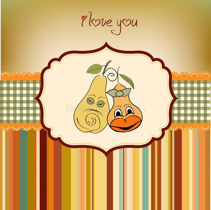 Pears in love stock illustration