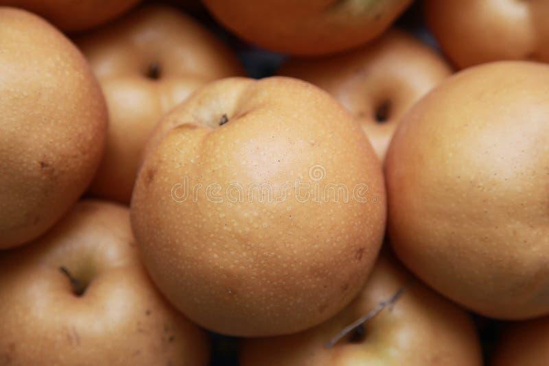 Pears on market royalty free stock photos