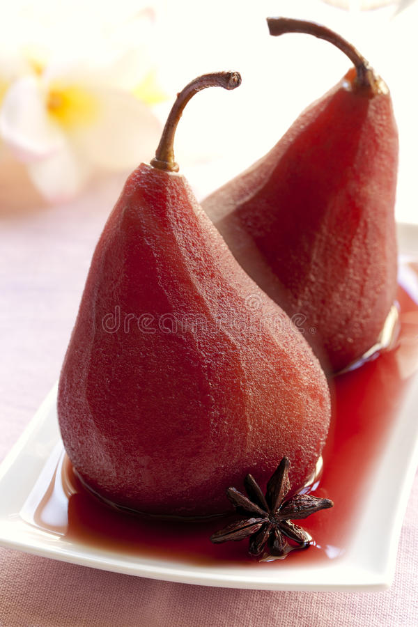 Download Pears Poached in Red Wine stock photo. Image of pears - 24234840