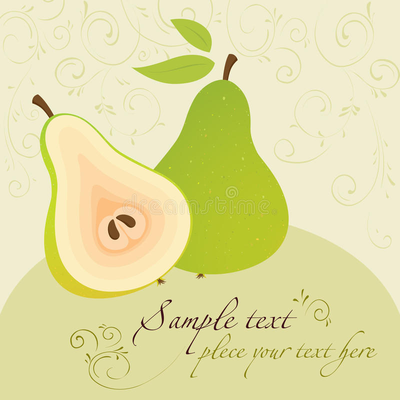 Download Pears. Template for Design stock vector. Image of mellow - 17785795