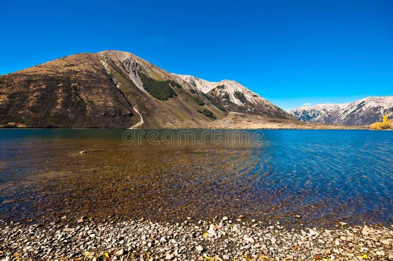 Pearson lake, New Zealand royalty free stock photo
