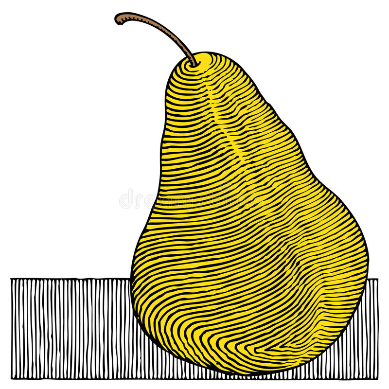pearträsnittyellow stock illustrationer