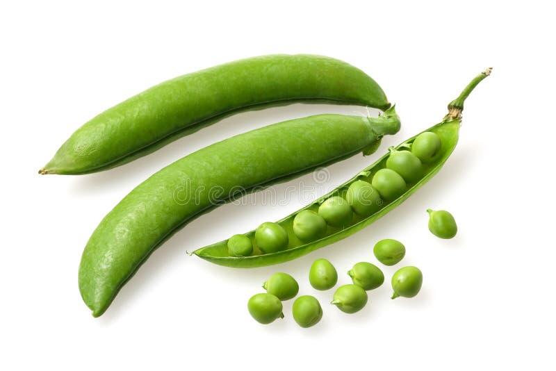 Peas. Three peas on a white background