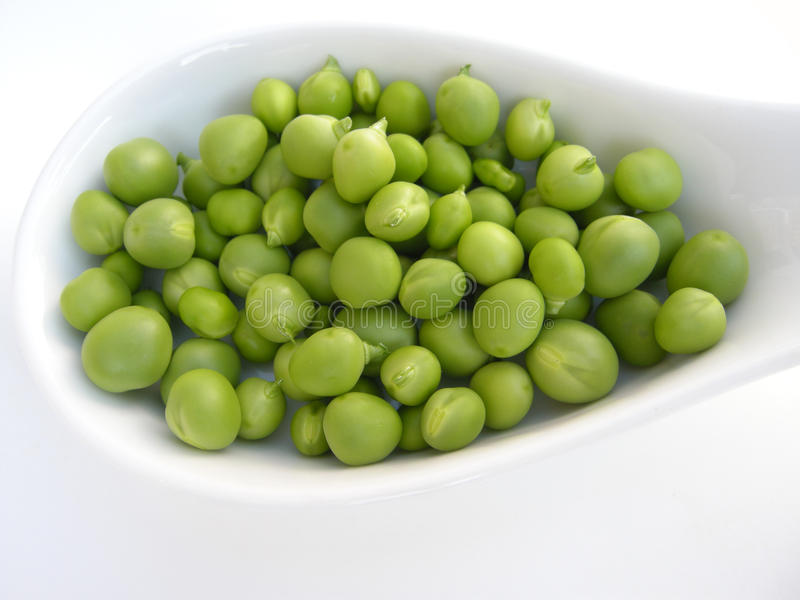 Download Peas stock image. Image of white, background, green, foods - 19717021