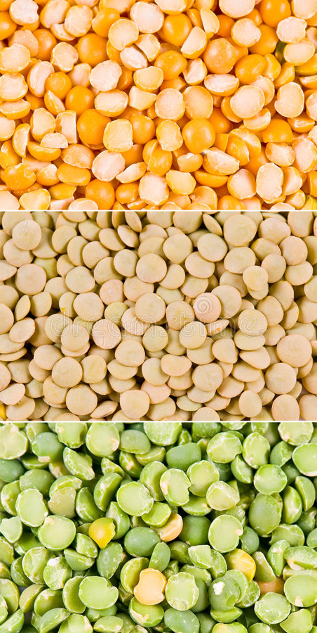 Peas with lentil royalty free stock photo