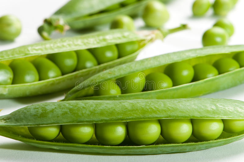 Peas In Pods royalty free stock images