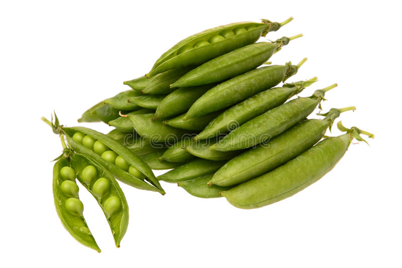 Peas in pods royalty free stock photography