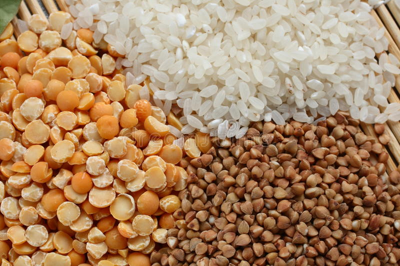 Download Peas, Rice And Buckwheat Royalty Free Stock Photography - Image: 15180787