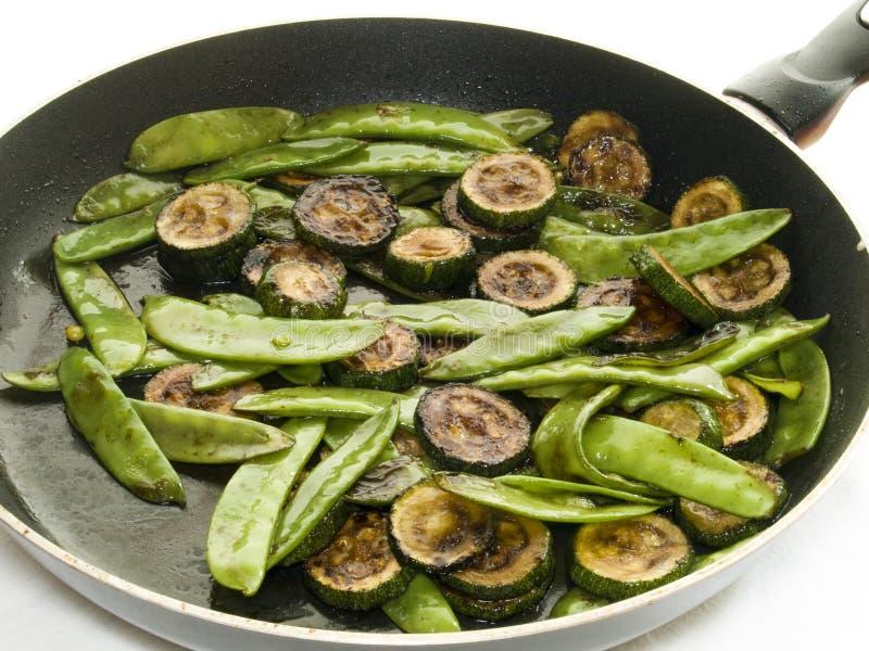 Peas and zucchini stock photo