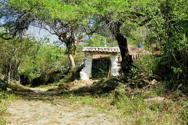 Peasant House on the Old Route in Guane, Colombia royalty free stock photography