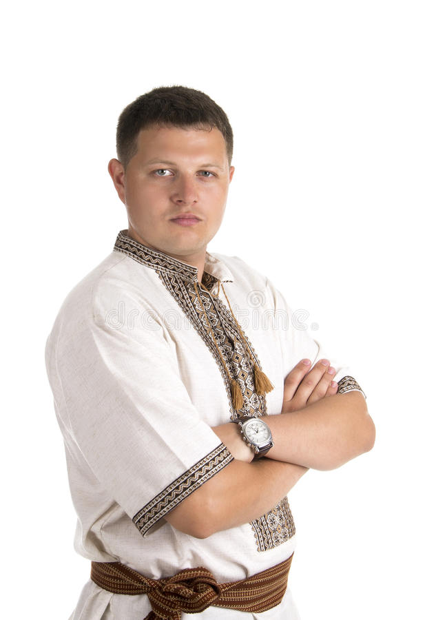 Peasant. An image of young ukrainian man looking at you stock photography