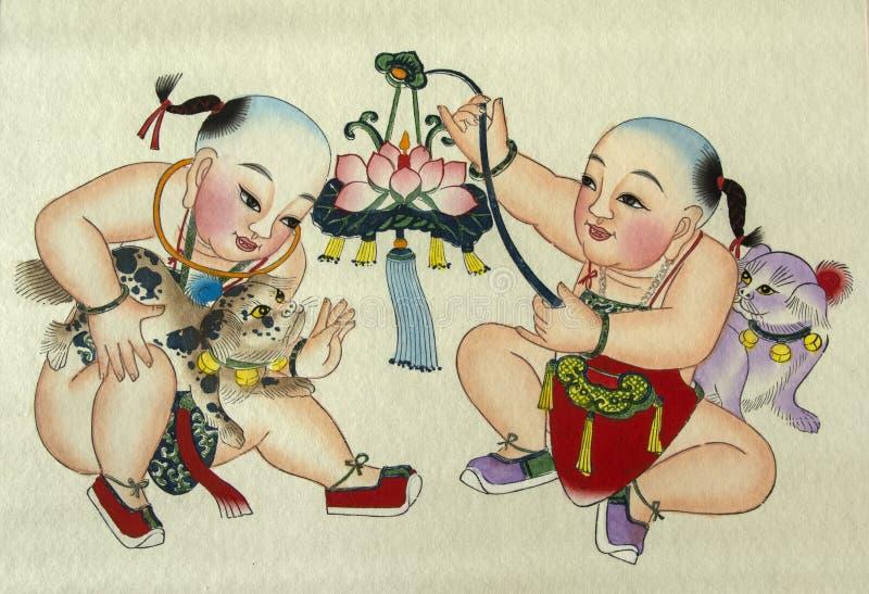 Peasant painting stock illustration