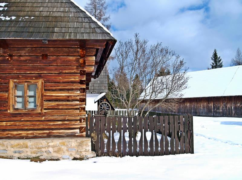 Peasant's house in Pribylina. stock photography