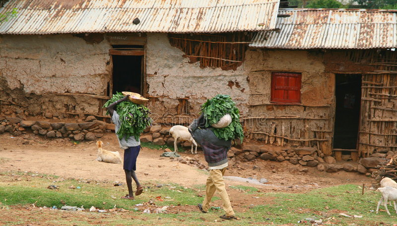 Peasants In Ethiopian Village Royalty Free Stock Images
