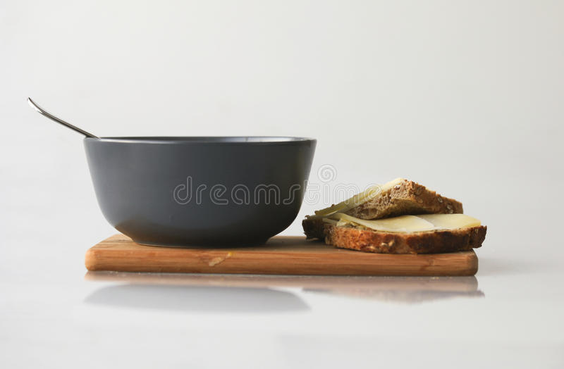 Download Peasoup with bread stock photo. Image of cheese, netherlands - 17506018