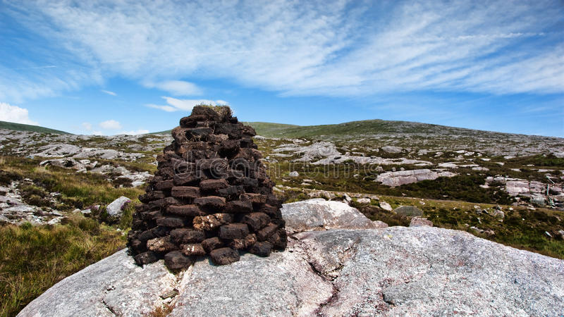 Peat Stack stock image