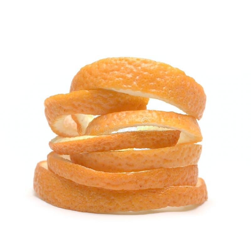 Peau d'orange d'isolement sur le blanc photos libres de droits