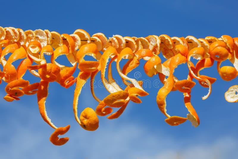 Peau d'orange traînée pour sécher images stock