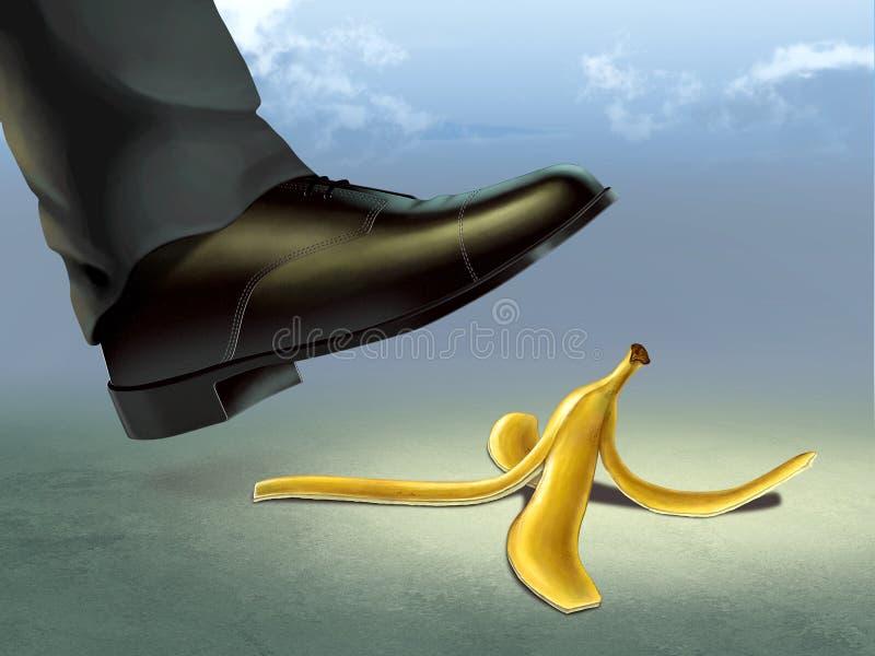 Peau de banane illustration libre de droits