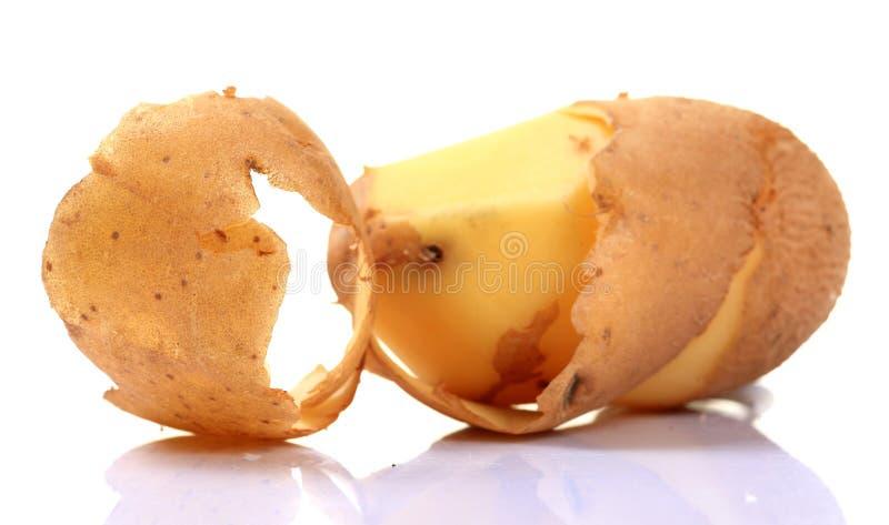 Peau de pomme de terre images libres de droits