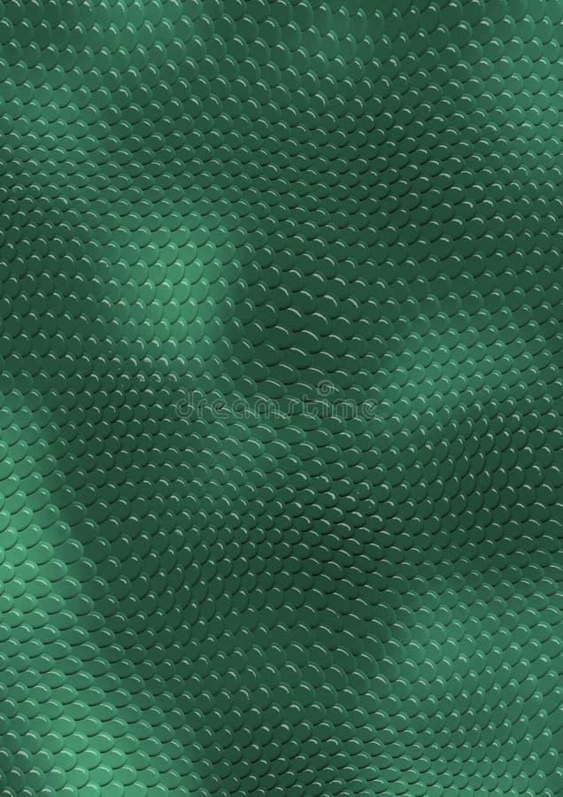 Peau de serpent vert illustration stock