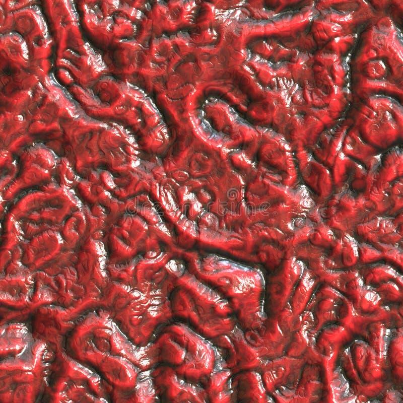 Peau rouge de reptile illustration libre de droits