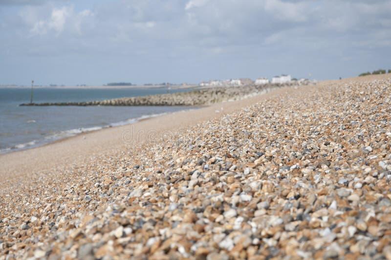 Pebble海滩,肯特,英国 库存照片