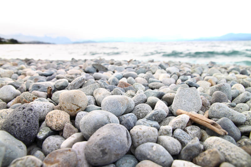 Pebble beach royalty free stock photo