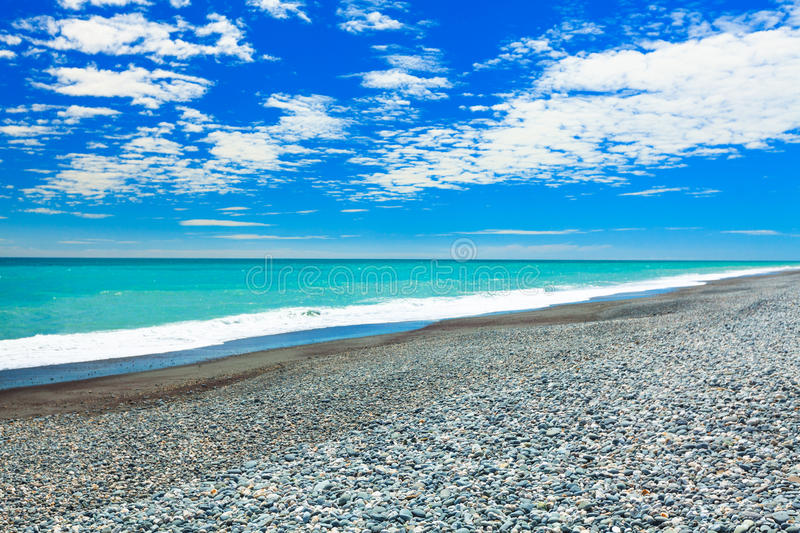 Pebble beach royalty free stock images