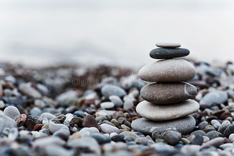 Pebble on beach stock photos