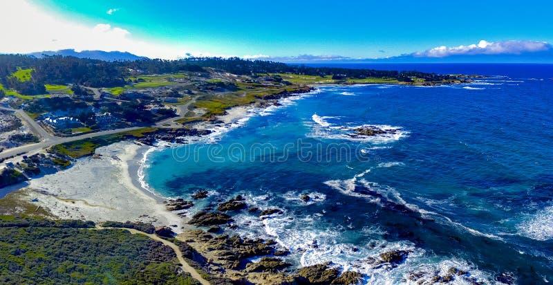 Pebble Beach aéreo imagem de stock