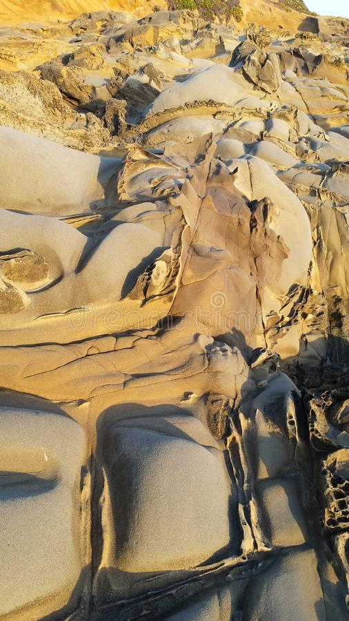 Pebble Beach, Bean Hollow State Park, Kalifornien lizenzfreie stockfotos
