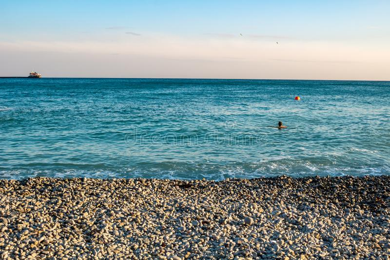 Pebble Beach Black Sea arkivfoto
